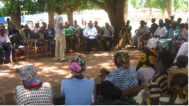 Figure 1. Community planning meeting to discuss and assign roles to the various stakeholders.